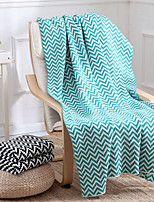 Super Soft,Printed Striped Poly/Cotton Blankets