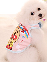cheap -Dog Shirt / T-Shirt Dog Clothes Casual/Daily Print Blue Pink Costume For Pets
