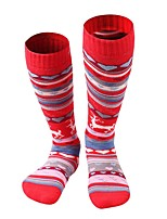 cheap -Floral / Botanical Ski Socks Kid's Socks Winter Back Country Sweat-Wicking Breathability Cotton Ski & Snowboard Hiking Back Country