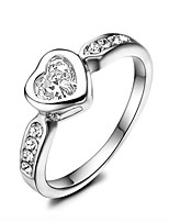 Women's Cubic Zirconia Simple Gold Plated Heart Jewelry For Wedding Party