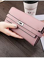 cheap -Women Bags PU Wallet Buttons Tiered for Event/Party Shopping All Season Blue Black Blushing Pink Gray Light Purple