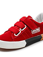 cheap -Girls' Shoes Synthetic Microfiber PU Spring Fall Comfort Sneakers For Casual Pink Red Black
