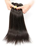 Недорогие -Натуральные волосы Реми Бразильские волосы Человека ткет Волосы Прямой силуэт Наращивание волос 4 Черный
