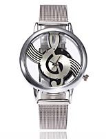 Mujer Reloj Casual Reloj de Moda Reloj de Vestir Reloj de Pulsera Chino Cuarzo Aleación Metálica Banda Lujo Casual Plata