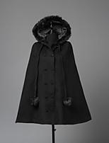 Steampunk® Cappottini Vintage Formale Cosplay Vestiti Lolita Nero Manica lunga Mantello Per Lana Lanetta