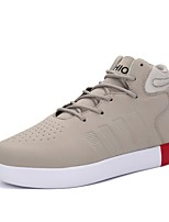 Men's Shoes PU Spring Fall Comfort Sneakers For Casual Khaki Red Black