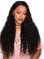 Glue-less Lace Front Human Virgin Hair Natural ColorDeep Wave Lace Wig with Baby Hair