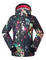 GSOU SNOW Per donna Tuta da sci Caldo Ompermeabile Antivento Indossabile Traspirabilità Sci Ecologico Poliestere Tessuto in seta