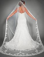 Wedding Veil One-tier Chapel Veils Lace Applique Edge Tulle Wedding Accessories