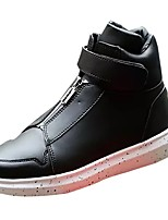 cheap -Men's Shoes PU Spring Fall Comfort Sneakers For Casual Red Black White