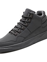 cheap -Men's Shoes PU Spring Fall Light Soles Sneakers for Casual Black Gray Red