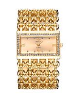 Per donna Orologio elegante Orologio da polso Orologio alla moda Cinese Quarzo Orologi con incisioni imitazione diamante Lega di metallo