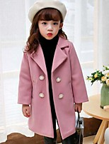 Girls' Solid Jacket & Coat,Cotton Polyester