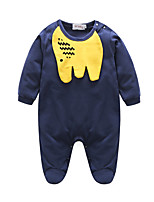 Baby Animal One-Pieces,Cotton Fall Fall/Autumn Long Sleeves