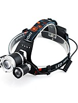GELE028AS Headlamps Headlight 3000 lm 4 Mode XM-L2 T6 with Batteries Zoomable Professional Camping/Hiking/Caving Everyday Use