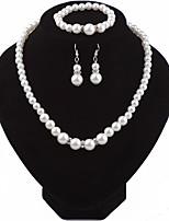 economico -Per donna Set di gioielli Perle Strass Vintage Elegant Matrimonio Evento Cristallo austriaco goccia Gioielli per corpo 1 collana 1