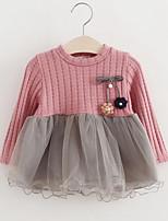 Girl's Dress,Rayon Polyester Long Sleeves Street chic Princess Blushing Pink Gray