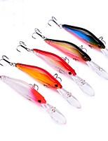 5 pcs Fishing Lures Fishing Tools Hard Bait Minnow g/Ounce,100mm mm/4