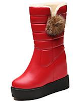 economico -Da donna Scarpe Gomma Inverno Anfibi Stivaletti Punta tonda Per Nero Rosso