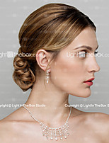 Women's Lariat Y Necklaces Rhinestone Rhinestone Alloy Basic Jewelry For Wedding Party