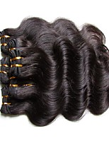 Недорогие -Человека ткет Волосы Волнистый Наращивание волос Бразильские волосы Черный Ткет человеческих волос 0.2