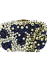 Women Bags Polyester Evening Bag Pearl Detailing for Wedding Event/Party All Season Black