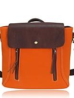 cheap -Women Bags Cowhide Canvas Shoulder Bag Zipper Tassel for Casual All Season Orange