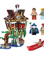 Building Blocks Boat Toys Novelty Architecture Classic Theme Landscape Architecture Non Toxic New Design Kids Adults' Boys' 506 Pieces