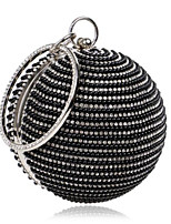 Women Bags Polyester Evening Bag Buttons Crystal Detailing for Casual All Season Gold Black Silver
