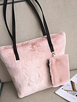 cheap -Women Bags Fur Tote Feathers / Fur for Event/Party Shopping Winter White Black Red Blushing Pink Gray