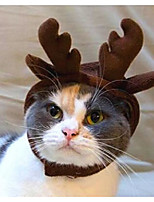 Chat Chien Tiares & Couronnes Bandanas & Chapeaux Vêtements pour Chien nouveau Bandeau Noël Solide Costume Pour les animaux domestiques