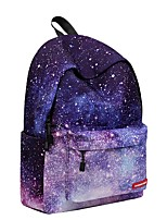 Unisex Bags All Season Polyester Backpack Zipper for Casual Outdoor Light Purple