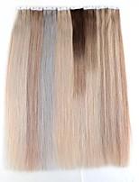 billige -neitsi 16 '' 10 stk. 15g mini tape i menneskelige hårforlængelser 6a grade kvalitet 100% lige remy hud skud
