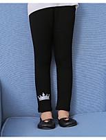 preiswerte -Mädchen Hose Druck Baumwolle Kunstseide Winter Herbst Einfach Schwarz Marineblau Grau