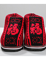 Women's Shoes Wool Spring Fall Comfort Slippers & Flip-Flops For Casual Red Brown Fuchsia
