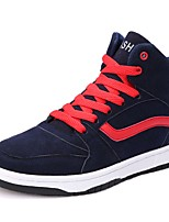 baratos -Masculino sapatos Couro Ecológico Primavera Outono Solados com Luzes Tênis para Casual Preto Azul Verde Escuro