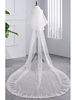 Wedding Veil Two-tier Chapel Veils Scalloped Edge Tulle