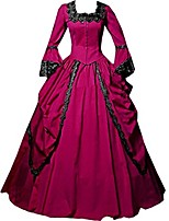 One-Piece/Dress Party Costume Masquerade Steampunk® Elegant Lace-up Victorian Cosplay Lolita Dress Fuschia Dark Green Light Purple Green