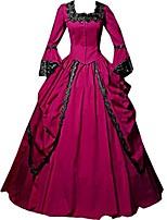 Rétro Victorien Epoque Médiévale Costume Féminin Adulte Costume de Soirée Bal Masqué Rouge Vert Violet Claire Vert foncé Fuschia Vintage