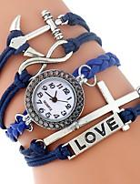 abordables -Mujer Niños Reloj Casual Reloj de Moda Reloj creativo único Chino Cuarzo Cronógrafo PU Banda Casual Azul