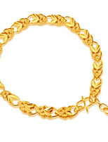 Femme Bracelets Rigides Manchettes Bracelets Asiatique Cadeau Adorable Mode Plaqué or Bijoux Pour Mariage Quotidien