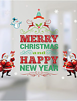 Christmas Wall Stickers Decals Decorative Wall Stickers,Water proof material Paper Material Home Decoration Wall Decal