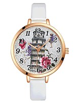 Women's Wrist watch Chinese Quartz Large Dial PU Band Casual Elegant Colorful Black White Red Brown Pink Purple Rose Pool Sky Blue