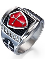 Men's Band Rings , Vintage Stainless Steel Cross Jewelry For Gift Daily