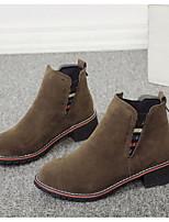 preiswerte -Damen Schuhe Gummi Nubukleder Winter Herbst Modische Stiefel Springerstiefel Stiefel Booties / Stiefeletten Für Normal Schwarz Grau Kamel