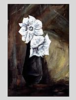 economico -Dipinta a mano Floreale/Botanical Modern Un Pannello Tela Hang-Dipinto ad olio For Decorazioni per la casa