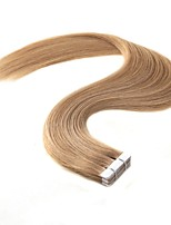 billige -Tape-in Menneskehår Extensions 20pcs / Pack 2g / pc Platin Blond Jordbær Blond / Afbleget Blond Beige Blond // Afbleget Blond Ash Brown /