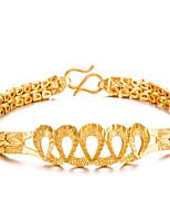 Недорогие -Жен. Браслет цельное кольцо Браслет разомкнутое кольцо С цветами азиатский Подарок Милый Мода Позолота В форме короны Бижутерия Назначение