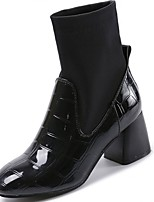 cheap -Women's Shoes Rubber Winter Combat Boots Boots Pointed Toe For Outdoor Black
