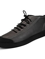 economico -Da uomo Scarpe Pelle Primavera Autunno Suole leggere Sneakers per Casual Nero Grigio